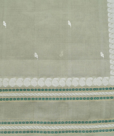 Paramkudi Grey Green Cotton Handloom Saree