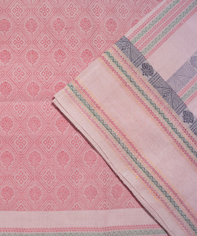 Paramkudi Light Pink Cotton Handloom Saree