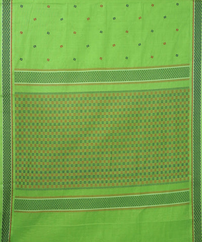 Paramkudi Parrot Green Cotton Handloom Saree