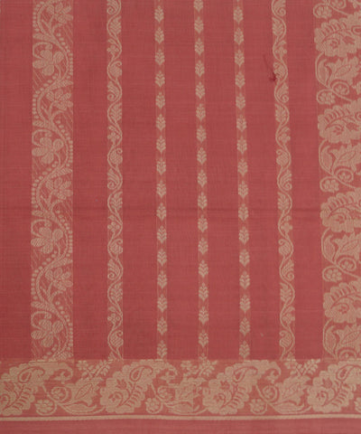 Red Orange Handloom Paramakudi Cotton Saree