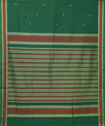 Paramkudi Dark Green Cotton Handloom Saree