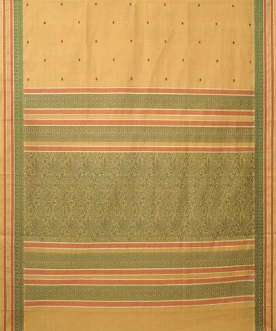 Paramkudi Light Cream Cotton Handloom Saree