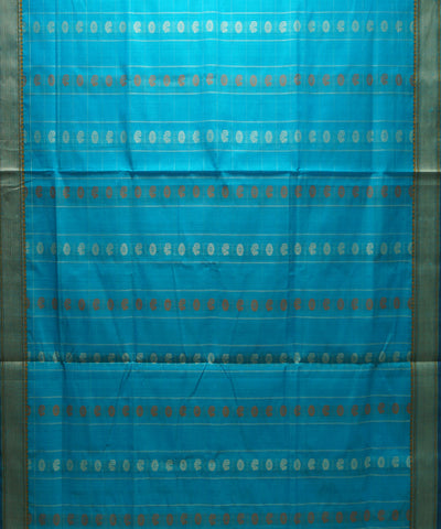Paramakudi Handwoven Blue Cotton Saree