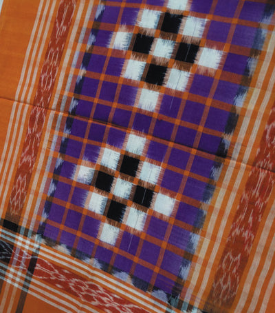 New Traditional Deep Lilac And Flame Pasapalli Ikat Tie And Dye Pilow Cover