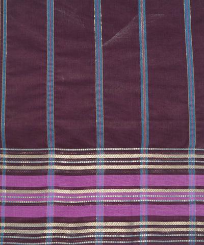 Manamedu Dark Wine Handloom Cotton Saree