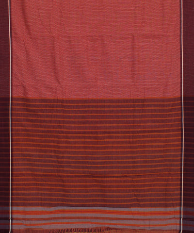Pale Pink Check Patteda Anchu Handwoven Saree