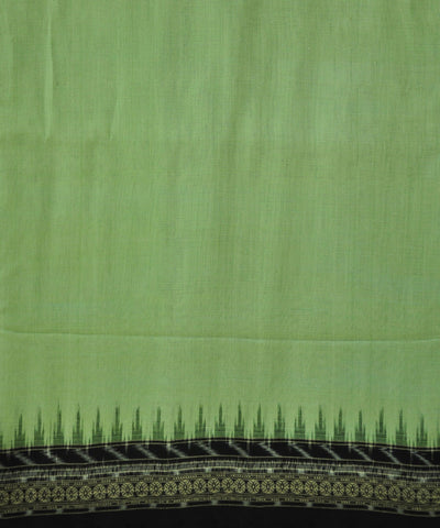 Bargarh Off Green with Black Border Cotton Saree