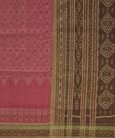 Bargarh Pink Cotton Saree