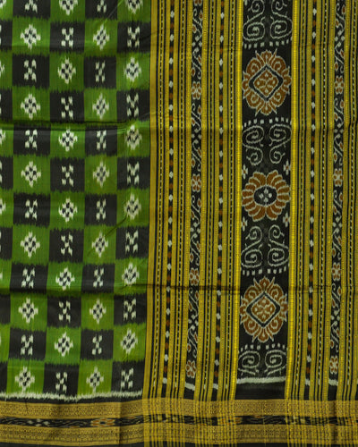 Nuapatna Green and Black Silk Saree