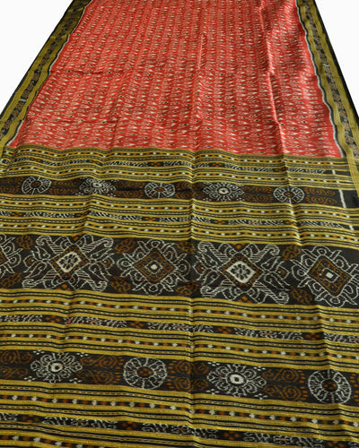 Nuapatna Red Silk Saree