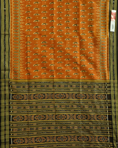 Nuapatna Orange and Black Silk Saree