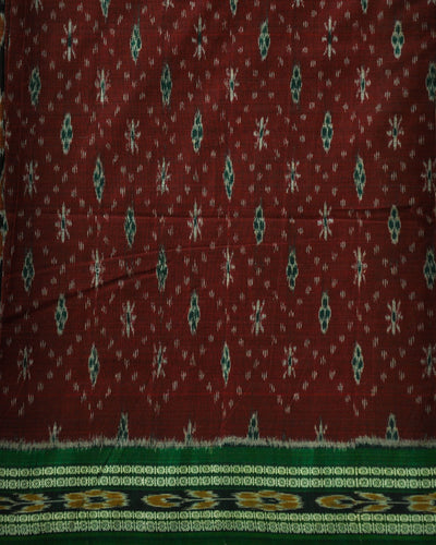 Nuapatna Red and Green Cotton saree