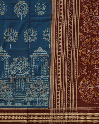 Bargarh Blue Cotton saree