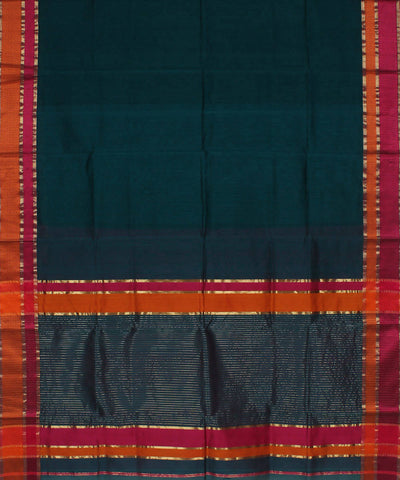Dark Green Maheshwari Handloom Saree