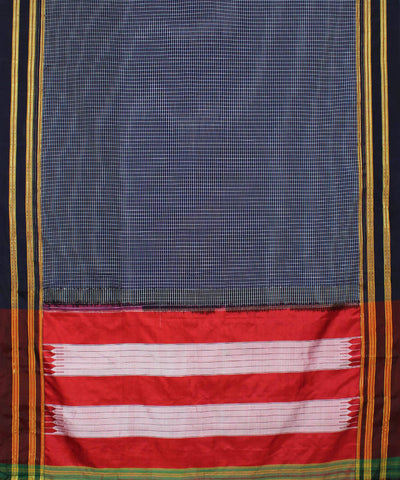 Blue Checks Ilkal Handloom Saree