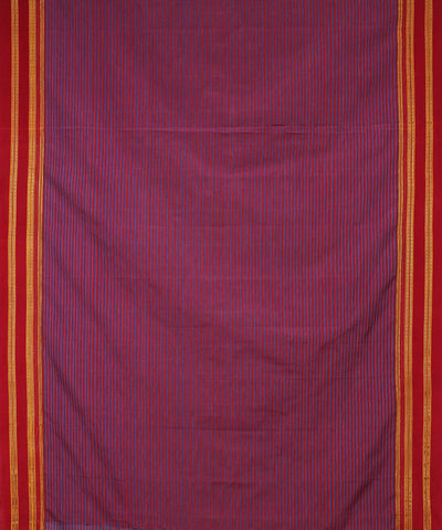 Pink Lilac Stripes Ilkal Handloom Saree