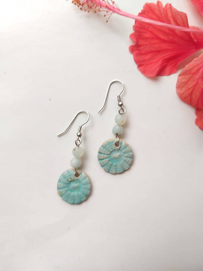 Turquoise Small Ceramic Dangler