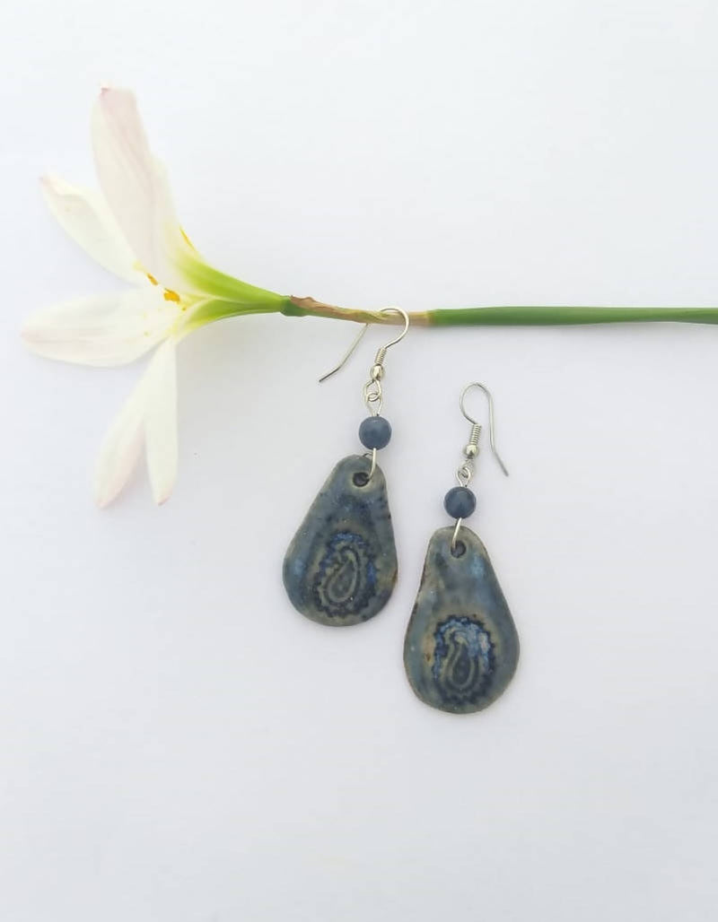 Blue Drop Ceramic Dangler