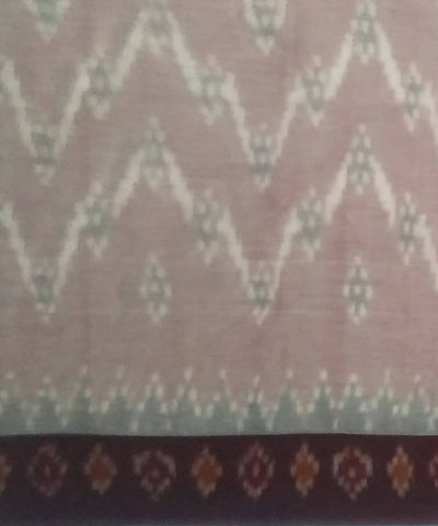 Light Brown siddipet tie and dye handwoven cotton saree
