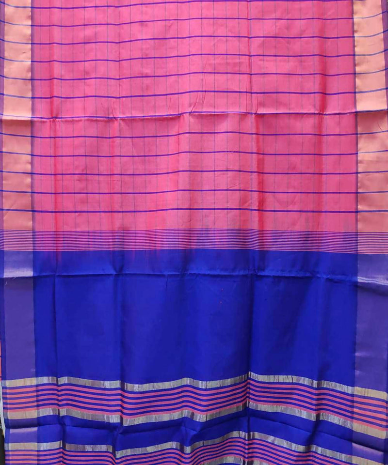 Light Pink Handwoven Venkatagiri Cotton silk saree