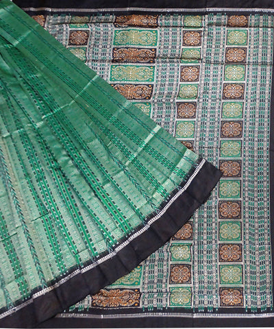 Deep Green Sonepur Handloom Silk Saree