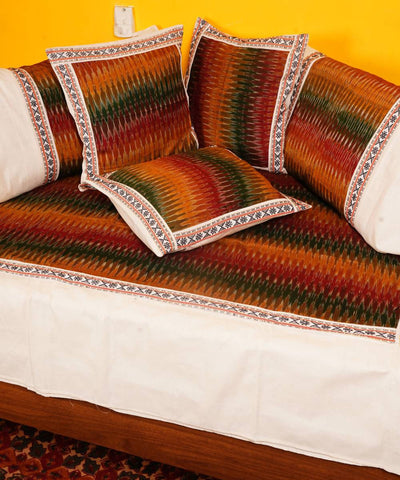 Multi Color Handloom Pochampally Diwan Set