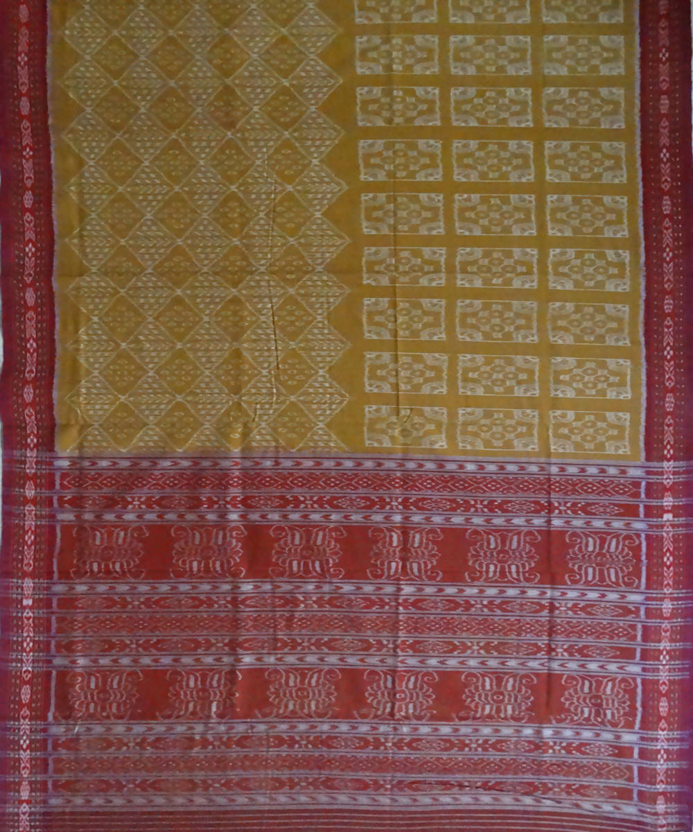 Copper handloom Sambalpuri ikat Cotton Saree