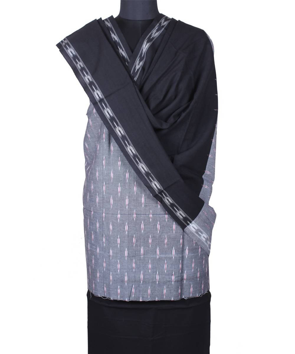 Grey handloom pochampally cotton suit
