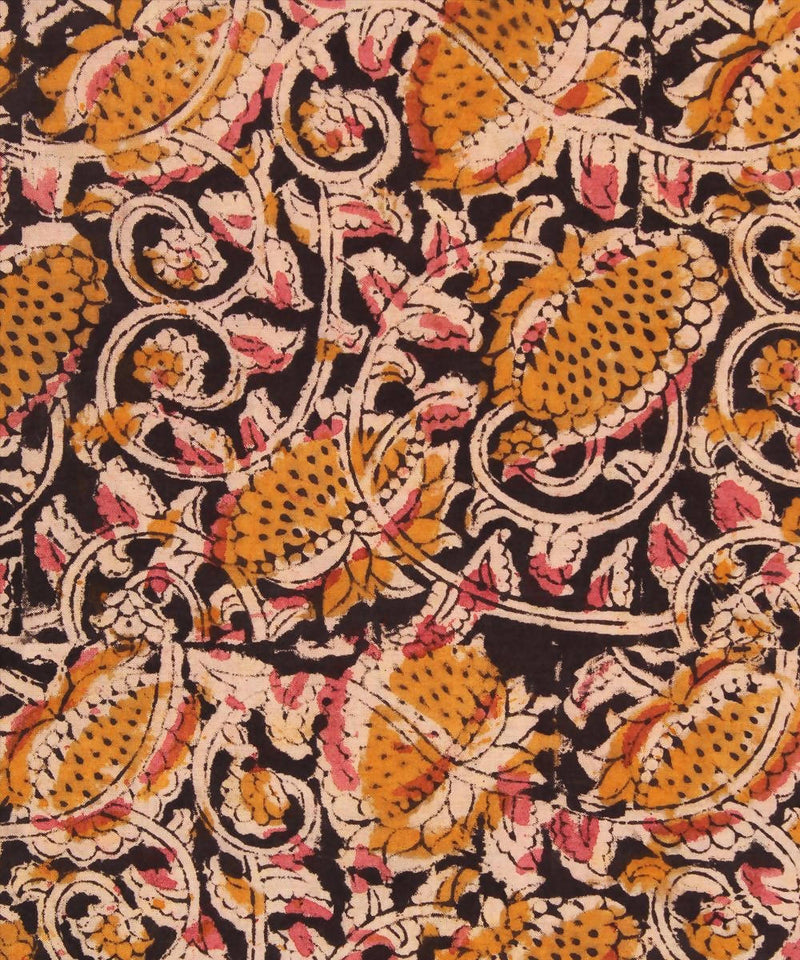 Handblock kalamkari print cotton fabric