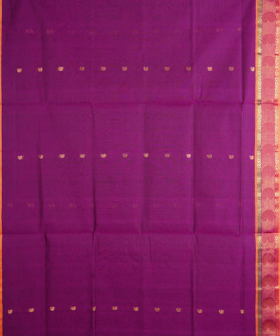 Purple Handloom Venkatagiri Cotton Saree