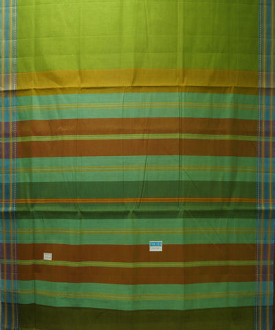 Parrot Green Handloom Organic Cotton Saree