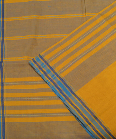 Corn Yellow Handloom Organic Cotton Saree