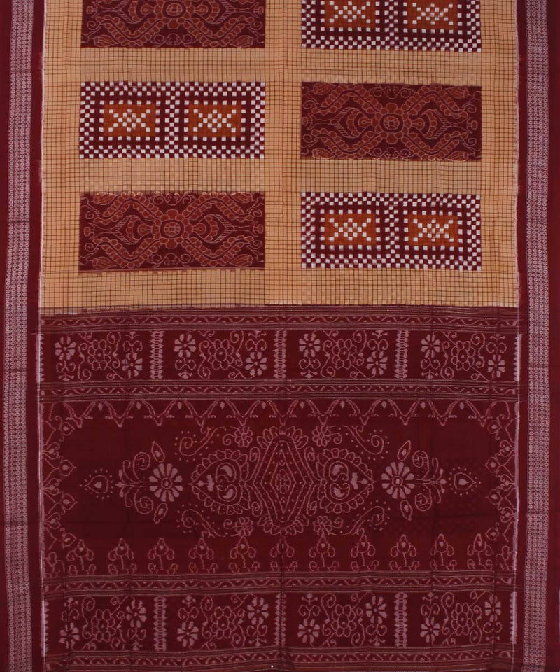 Syrup Brown Peru Handloom Sambalpuri Saree