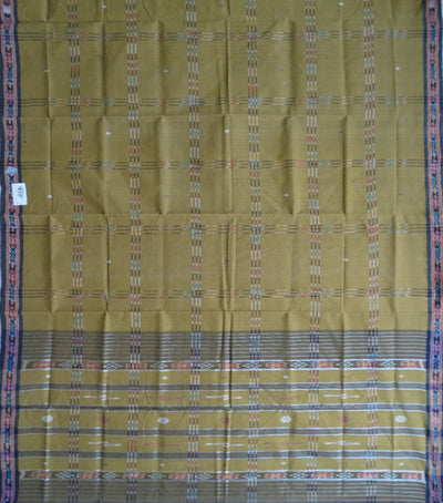 Traditional Bistre Brown And Gray Berhampuri ikat tie And dye cotton saree