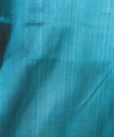 Shiny Purple and Sky Blue  Tussar Saree