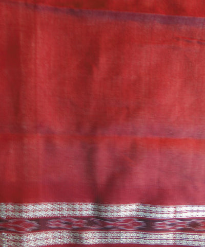 Chandan Colour and Maroon Sonpuri  Cotton Saree
