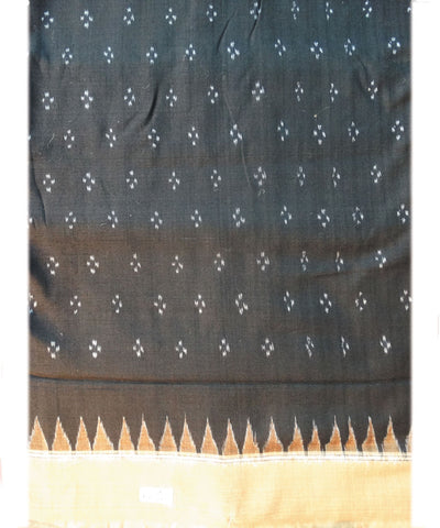 Black and Brick Sonpuri  Cotton Saree