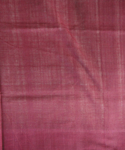 White and Maroon Sambalpuri Ikat Cotton Saree
