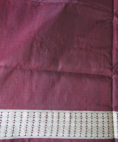 Chandan and Maroon Bomkai Silk Saree