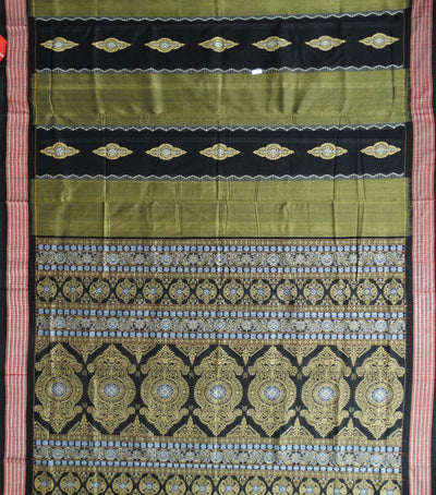 Exclusive Brass And Black Traditional Bomkai Cotton Saree