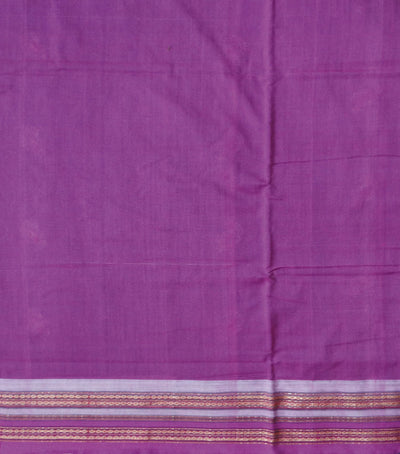 Exclusive Cobalt And Dark Orchid Traditional ikat Cotton Saree