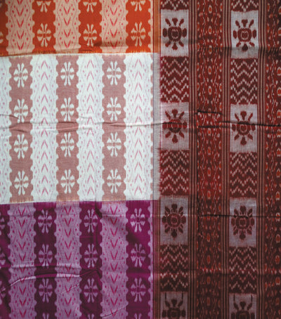 Exclusive Multy colour Traditional tie And dye sambalpuri ikat cotton Saree