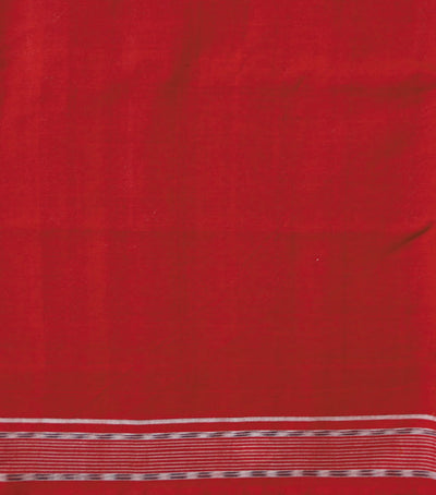 Black Maroon Shankh sambalpuri cotton Saree