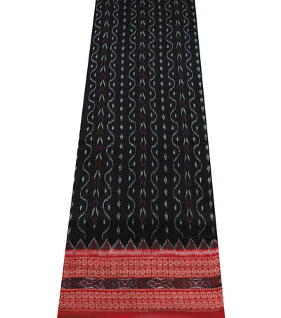 Exclusive Black And Maroon Sambalpuri Traditional ikat Cotton Saree
