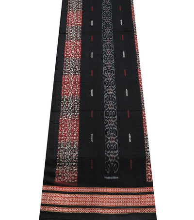 Exclusive Black And Maroon tie And dye Bomkai cotton Saree