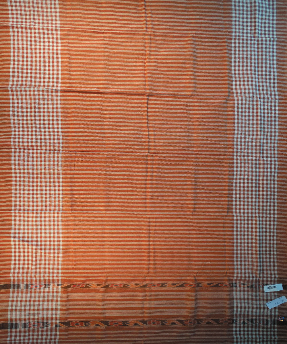 Brick Nuapatna Cotton Saree