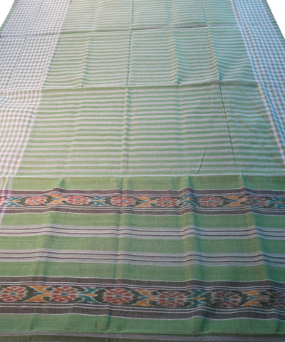 Light Green Nuapatna Cotton Saree