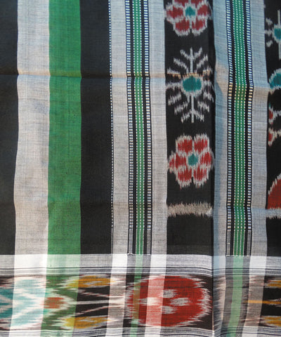 Black And Green PolyCotton Saree