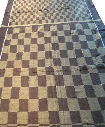 Black And Grey Sonpuri Cotton Saree