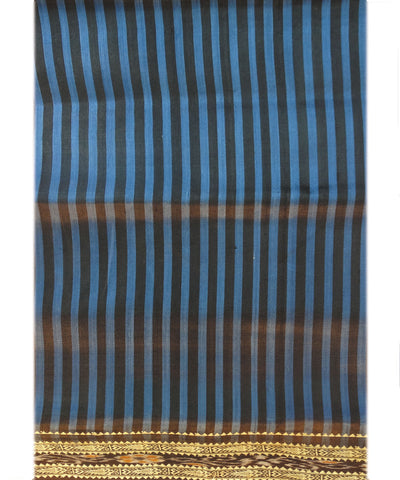 Blue and Black Khandua Silk Saree